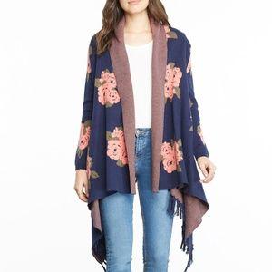 BB Dakota Malone floral cardigan sweater